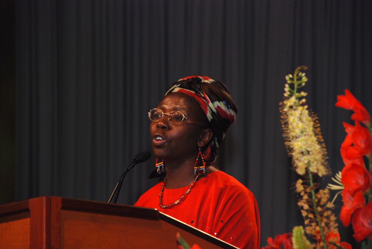 Dr. Musimbi Kanyoro, secretary general of World YWCA, Geneva, Switzerland, is a Kenyan advocate for women, children, and those with HIV/AIDS.