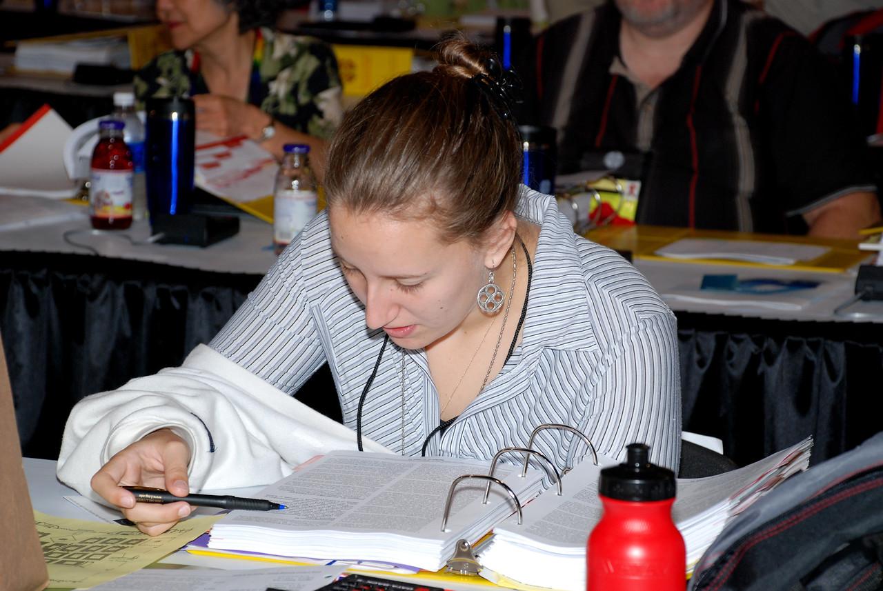 Voting Member going over material for Plenary session 4.