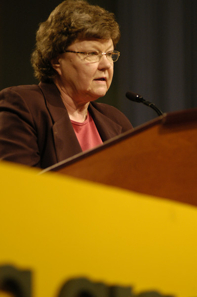 Dr. Norma Hirsh, co-chair of the Memorials Committee