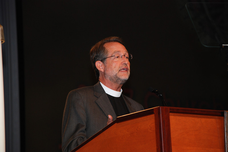 Pr. Craig Settlage, Director for Mission Support on Wednesday's Churchwide Assembly meeting at Navy Pier in Chicago, during Plenary 5 session.