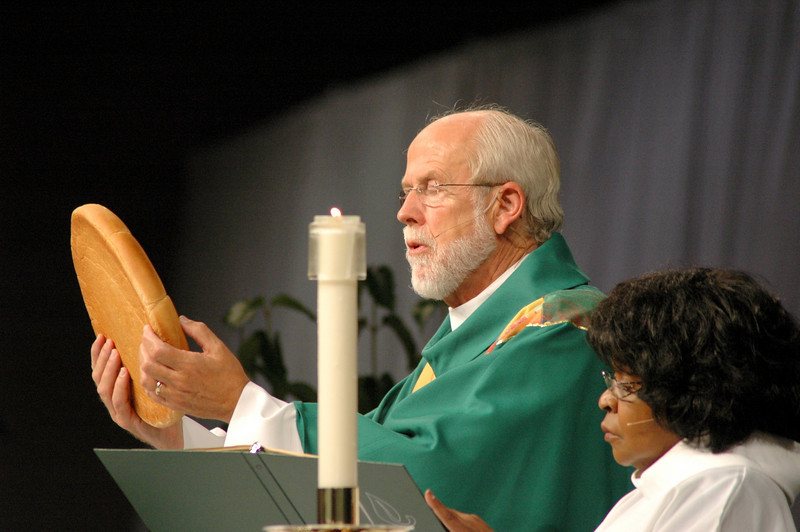 On Sunday morning, those having attended the 2009 ELCA Churchwide Assembly, worshiped together for one last time. Presiding Bishop Mark S. Hanson presided and Bishop Allan C. Bjornberg of the Rocky Mountain Synod preached.