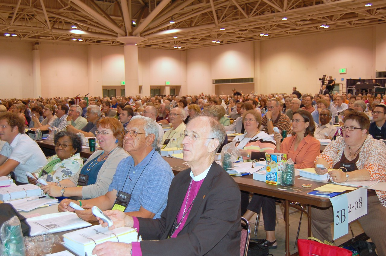 "1,045 voting members of the ELCA will spend the week listening to and discussing a number of topics. While Lutherans may not be ""of one mind,"" says Presiding Bishop Mark S. Hanson, they can still be ""united in faith and in our shared mission together."""