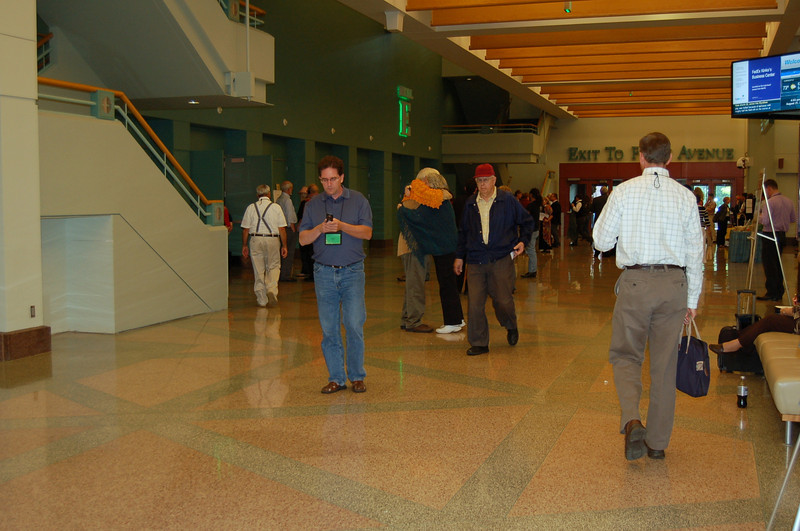 Inside the Minneapolis Convention Center.