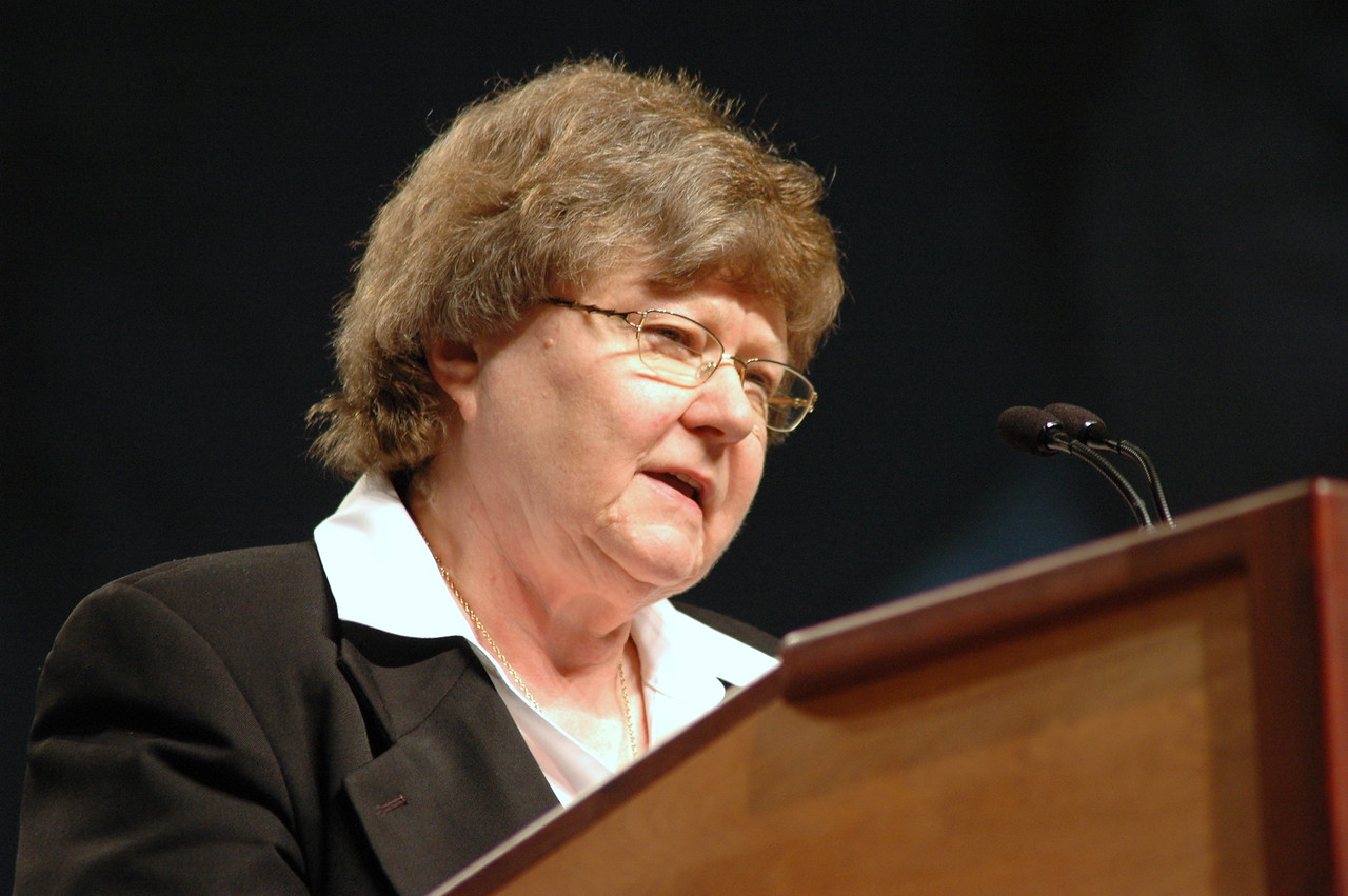 Norma Hirsch, ELCA Vice President nominee speaks before the assembly.