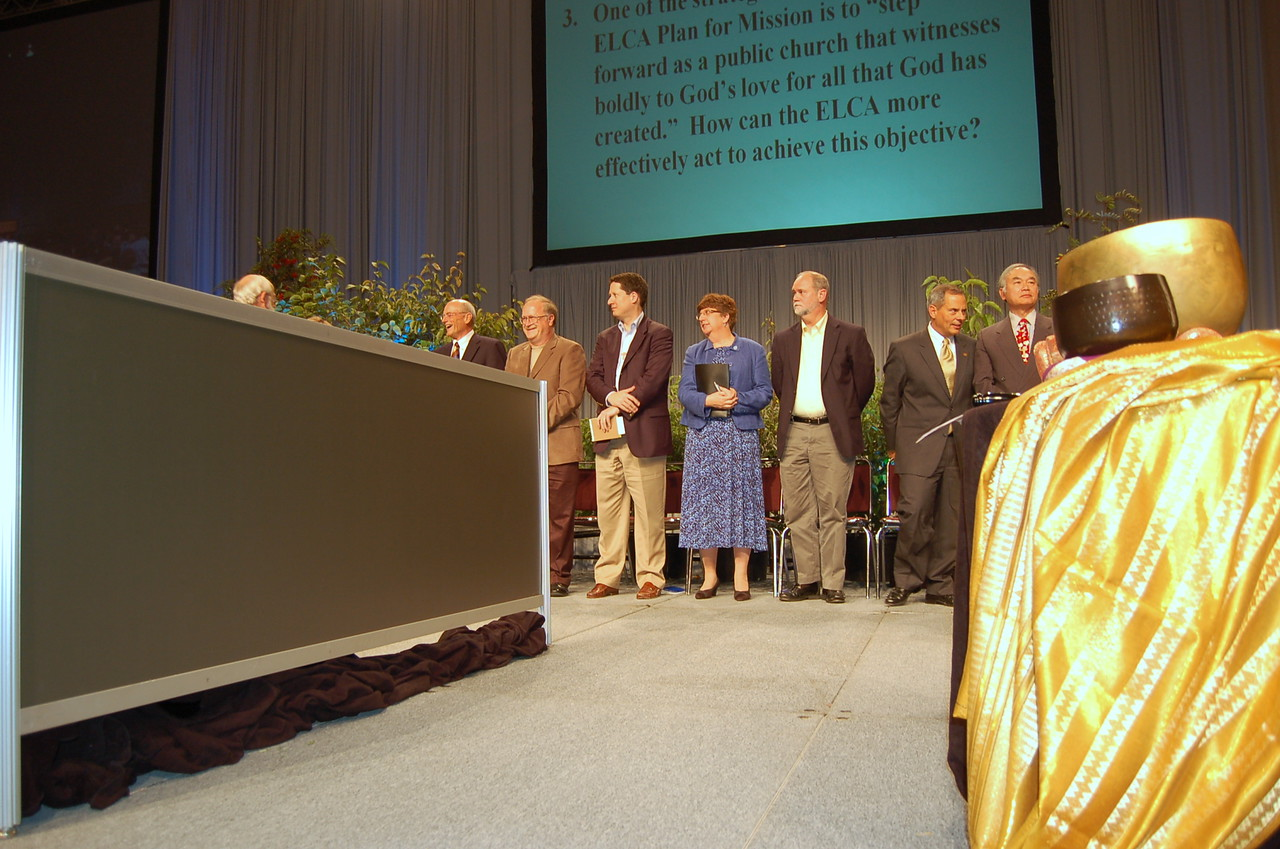The seven nominees for the office of Vice-President of the Evangelical Lutheran Church in America during plenary session nine.