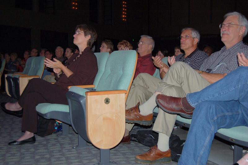 Audience enjoying the benefit concert.