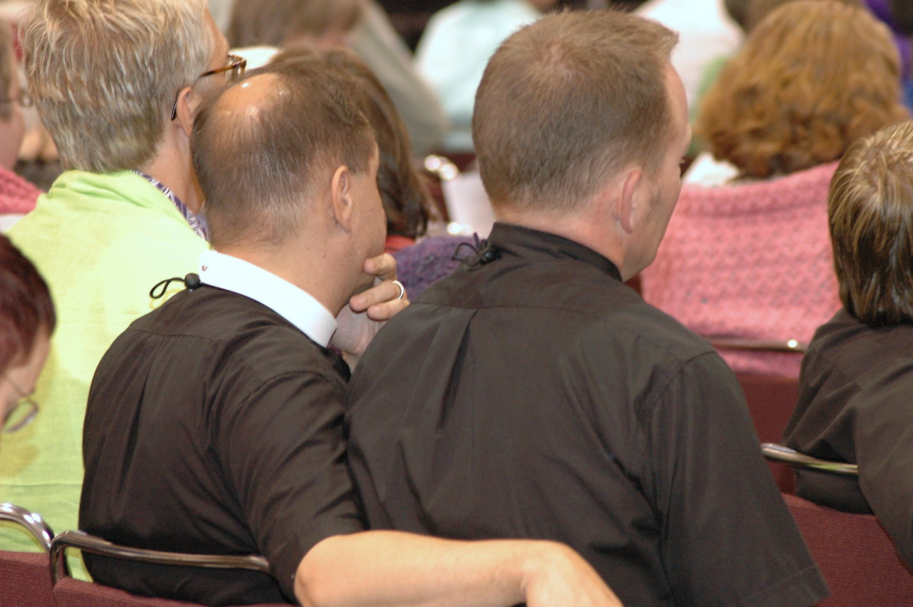 Many in attendance are congregational observers or other visitors who are interested in the proceedings.