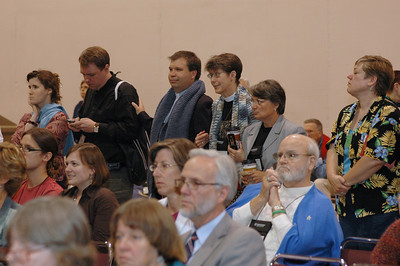 Visitors observe the debate on the consideration of the Ministry Policies Recommendation.