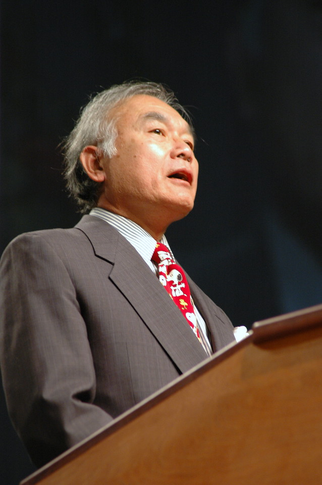 Yao Chiu, ELCA Vice President nominee speaks before the assembly.