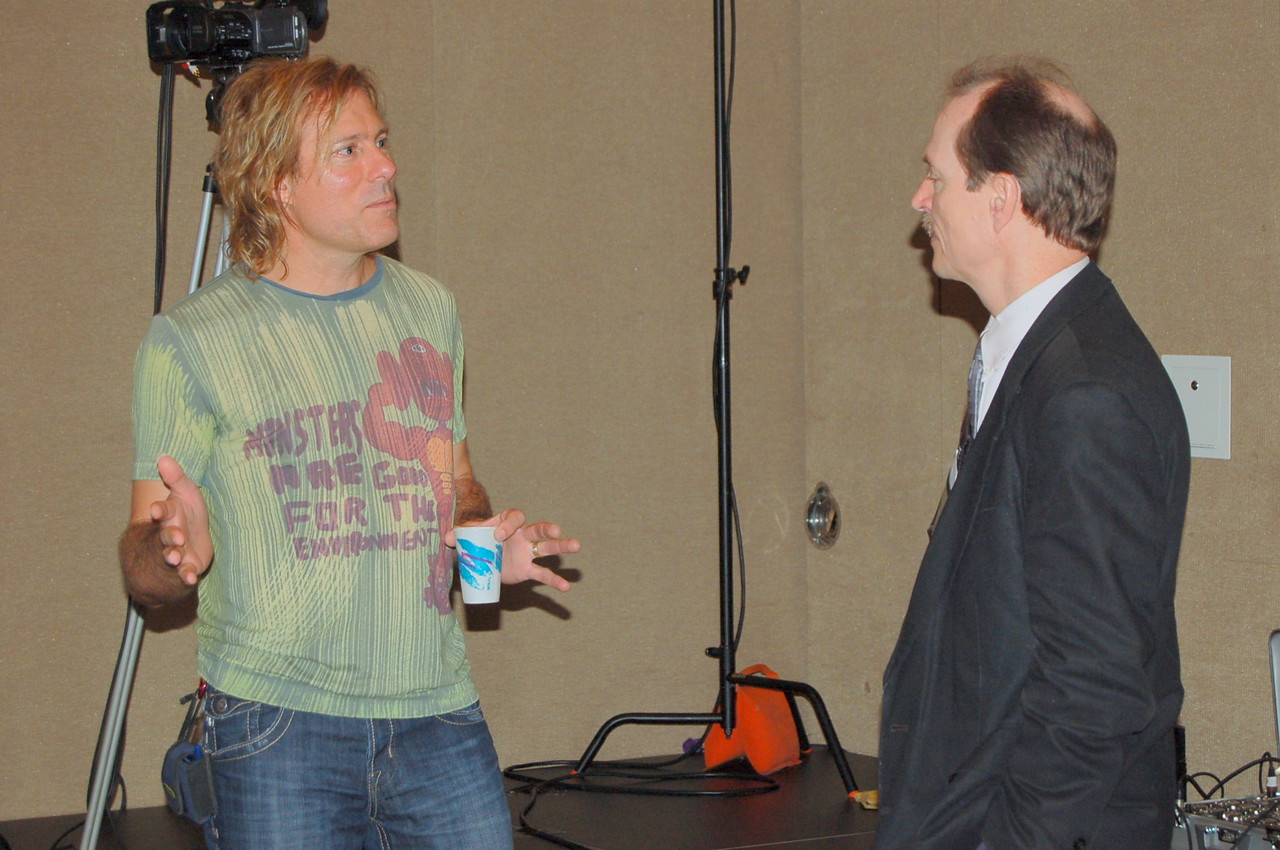 Musician Peter Mayer speaks to Frank Imhoff, ELCA News Service, about Friday evening's benefit concert for Lutheran Malaria Initiative and HIV and AIDS.