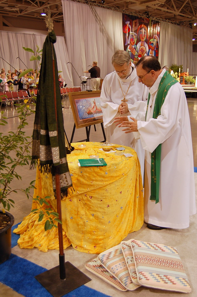 Blessing of the anointing station.