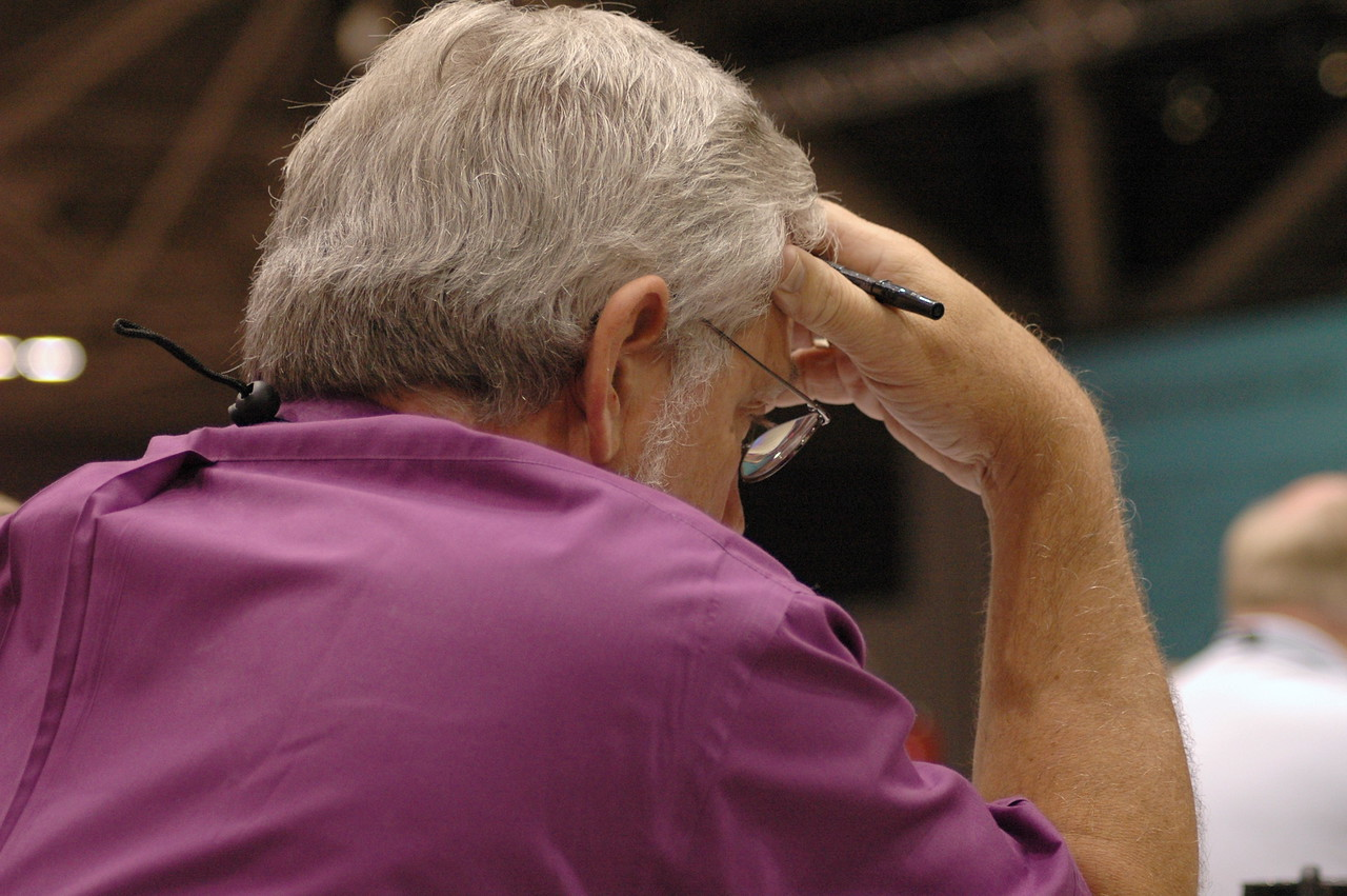 Bishop Edward R. Benoway, Florida-Bahamas Synod, during plenary session eight.