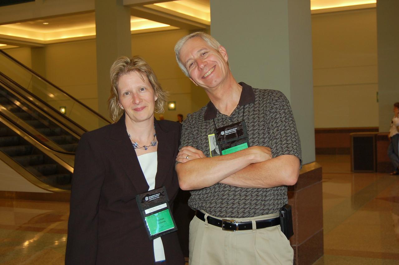 Barbara Andrews and Pr. Mark Johns