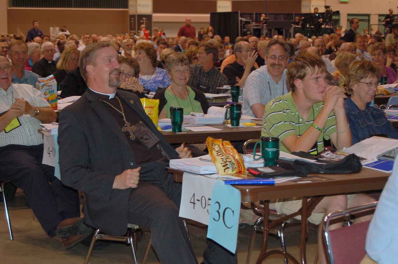 Voting members from the South Dakota Synod in plenary session nine.