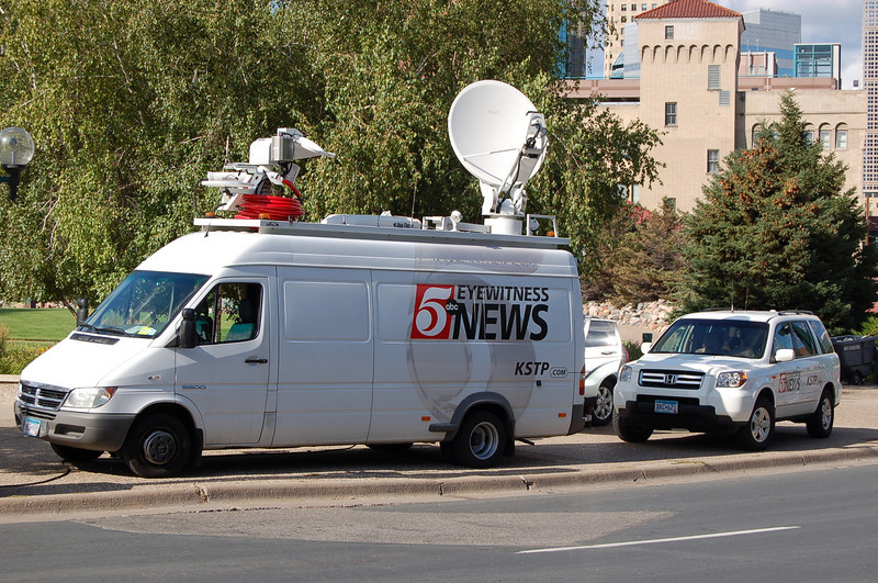 ABC 5 MInneapolis news truck.