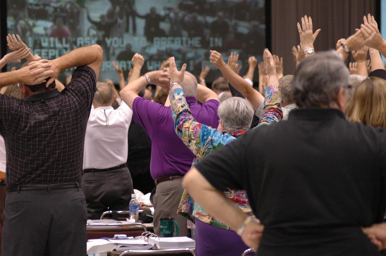 Stretch and pray!