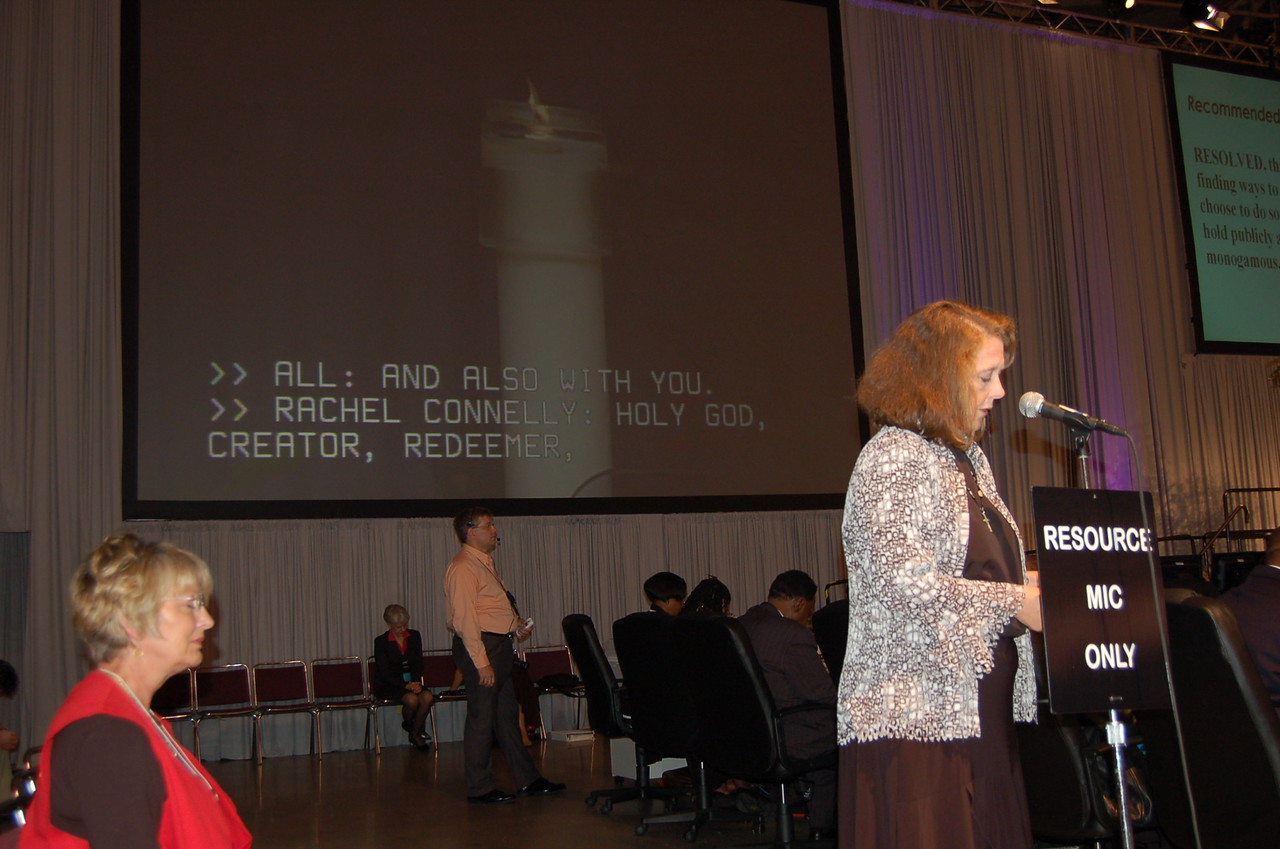 Rachel Connelly during plenary session eight.