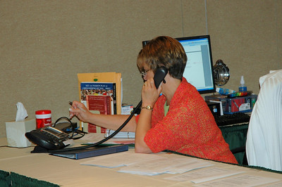 """Connie Sletto, editorial specialist / project coordinator, manages the """"Green Room."""""""