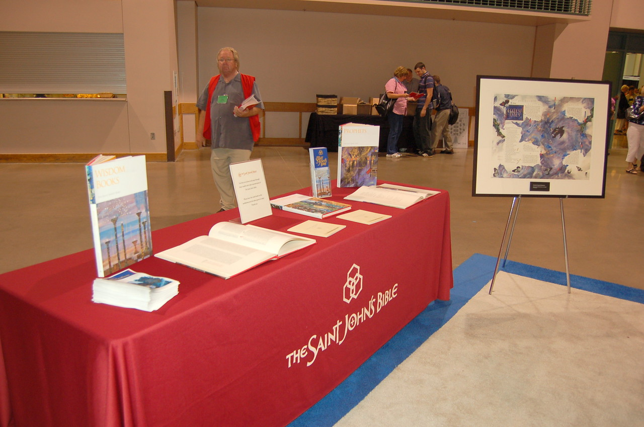 The Saint John's Bible display.