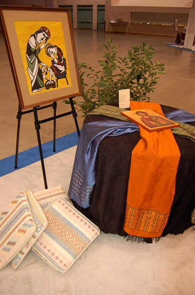 A small prayer corner within the worship area.