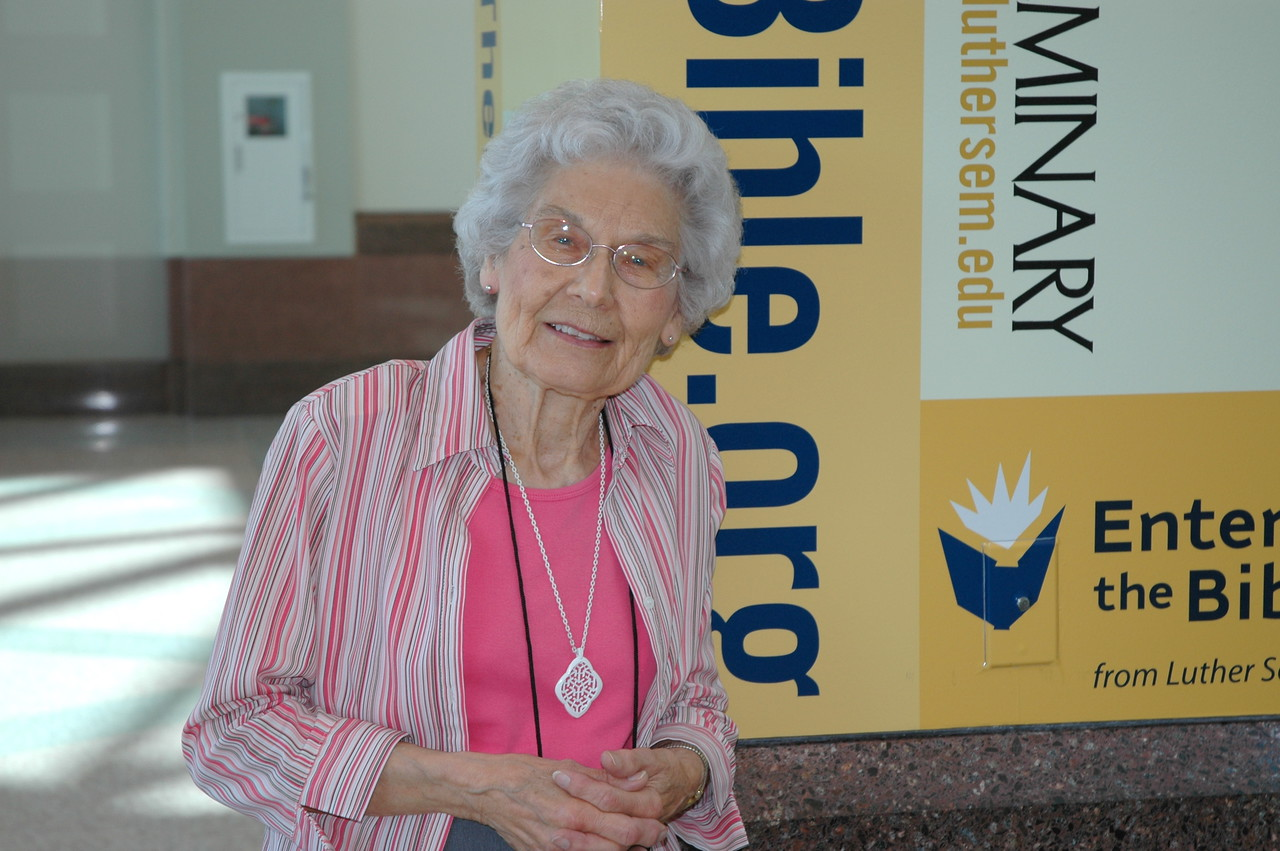 87-year-old Phyllis Score of Bloomington, Minn., is the assembly's oldest voting member.