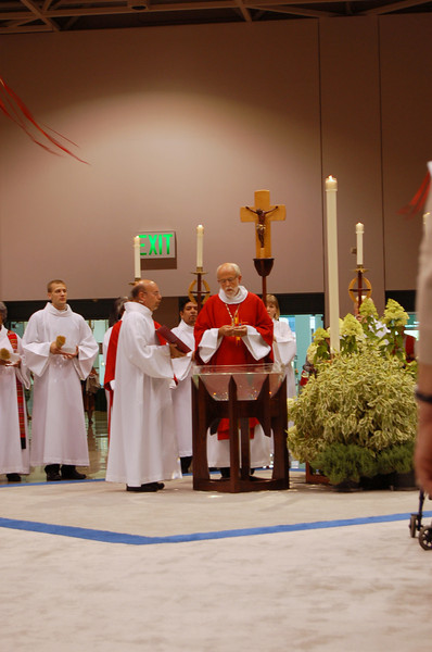 Bishop Hanson at opening worship.