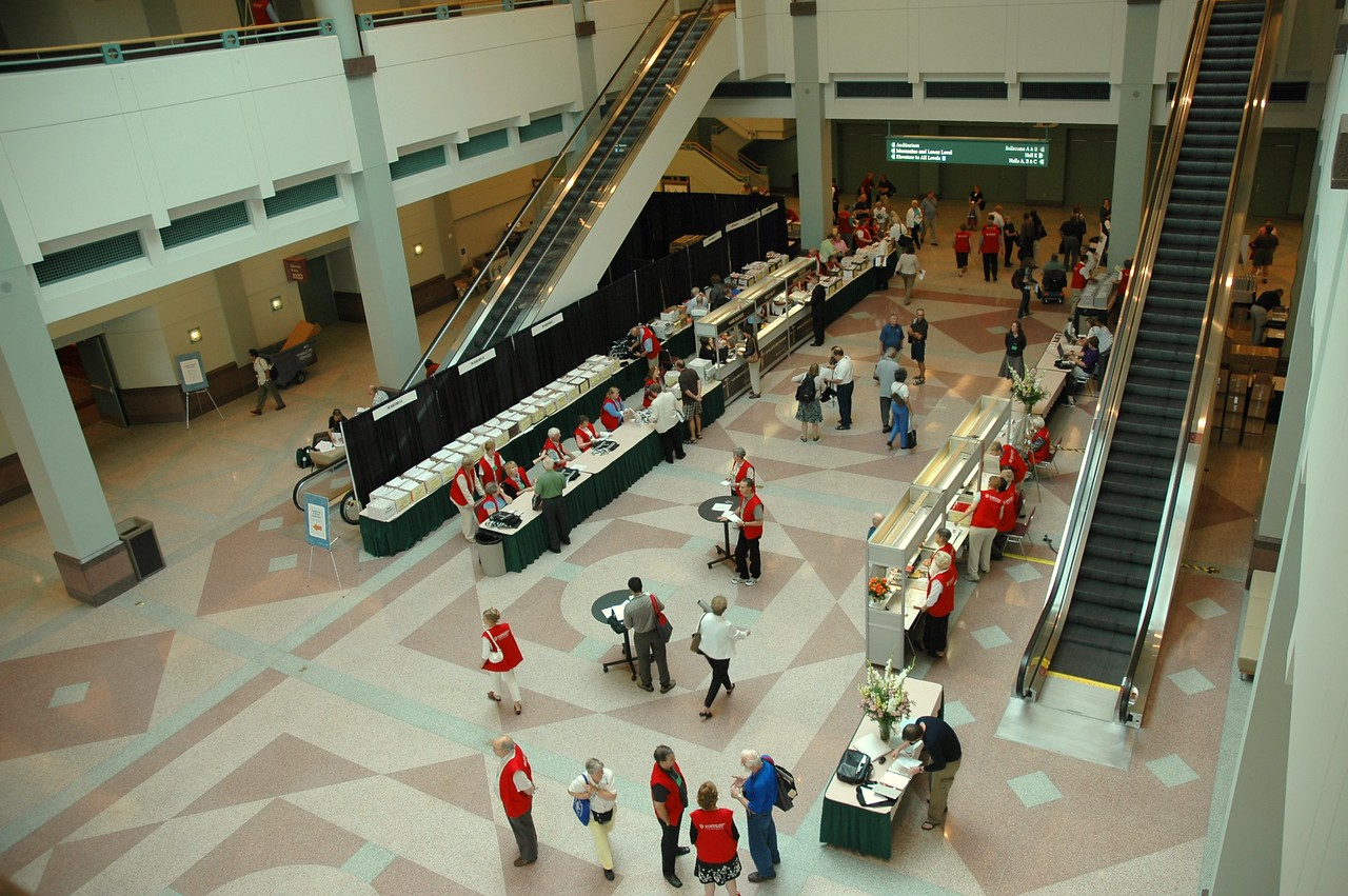 The registration area.