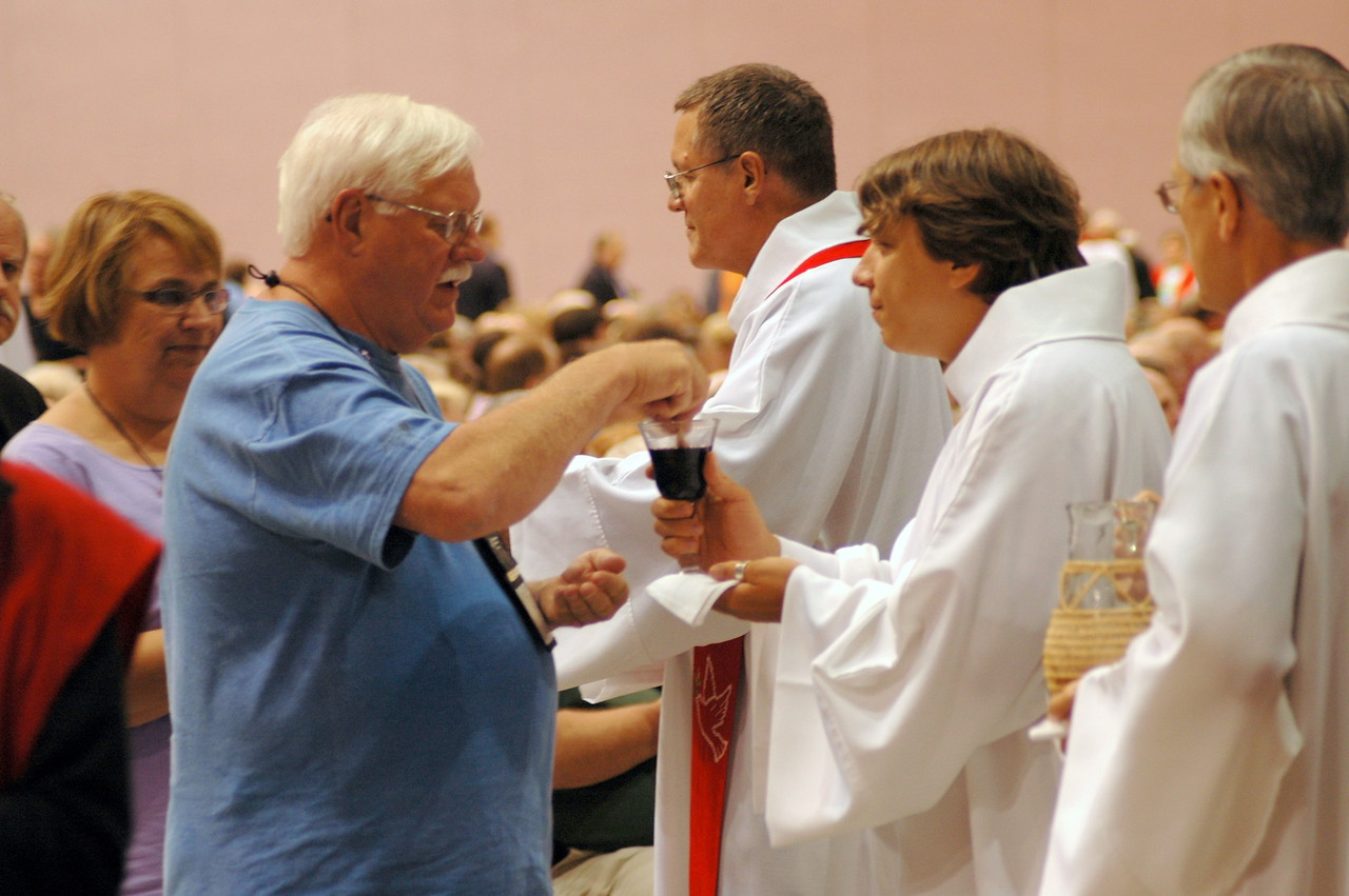 Holy Communion at opening worship.