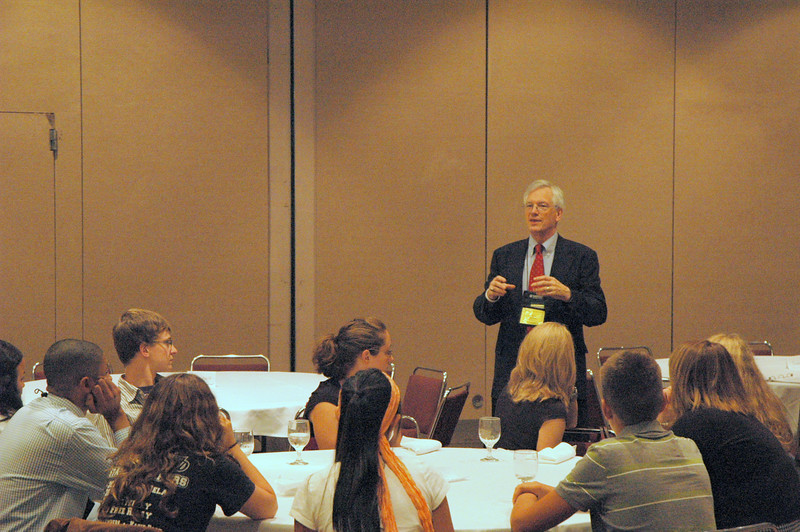David Swartling, secretary of the ELCA, speaks to youth and young adult voting members and young rostered leaders of the ELCA.