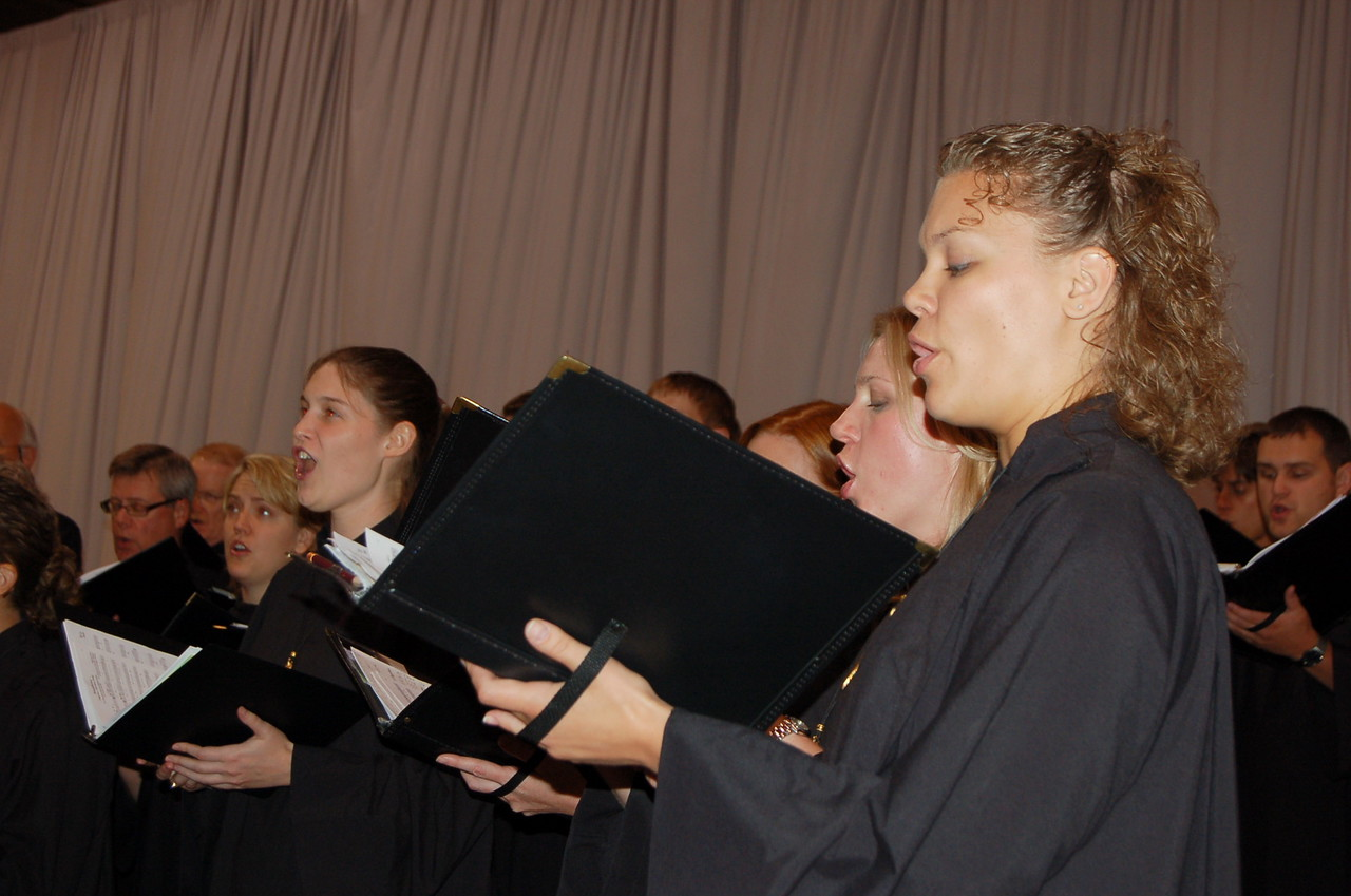 The choir at opening worship.