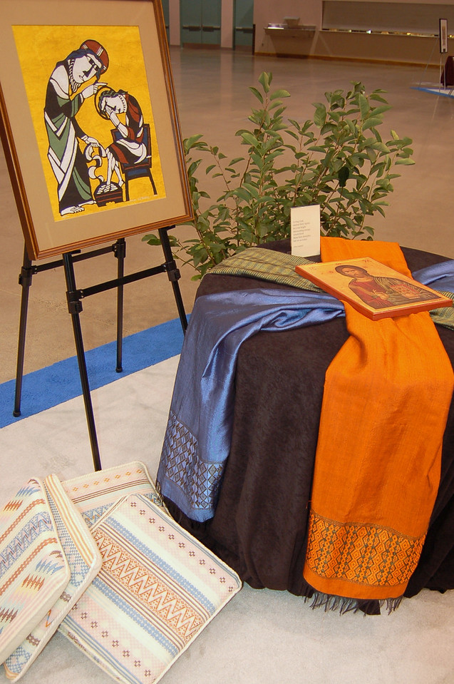 A small prayer corner within the worship hall.