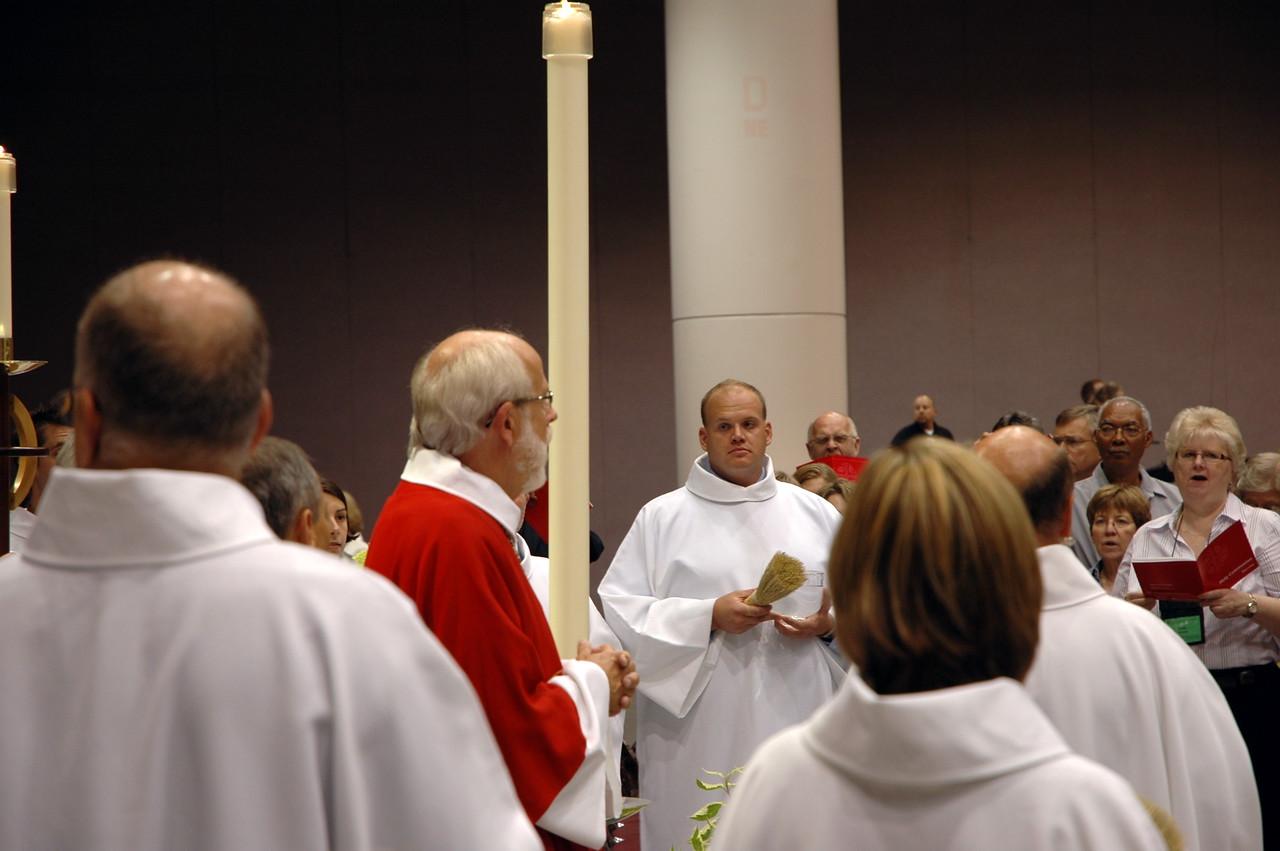 Bishop Hanson at opening worship.