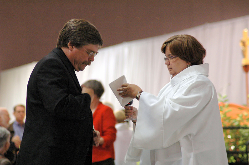 Holy Communion at opening worship.