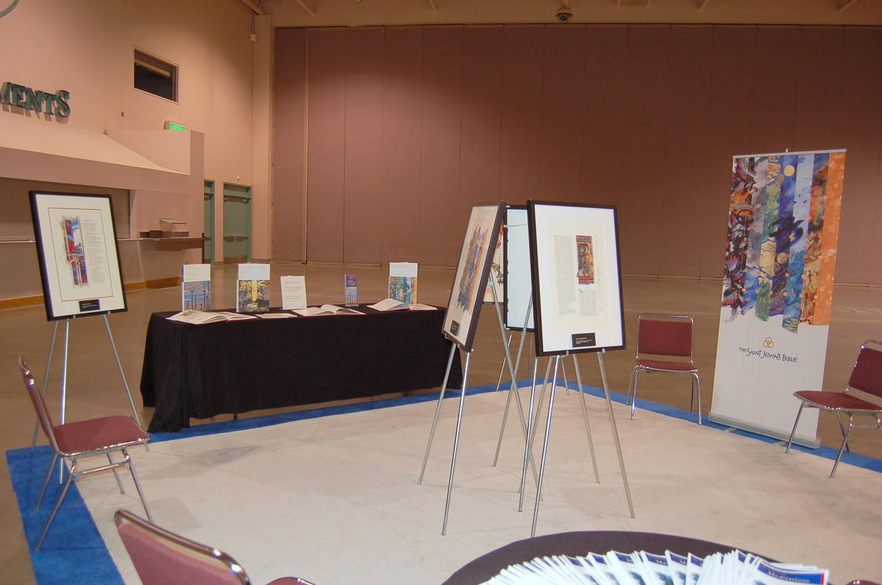 A display of the Saint John's Bible.