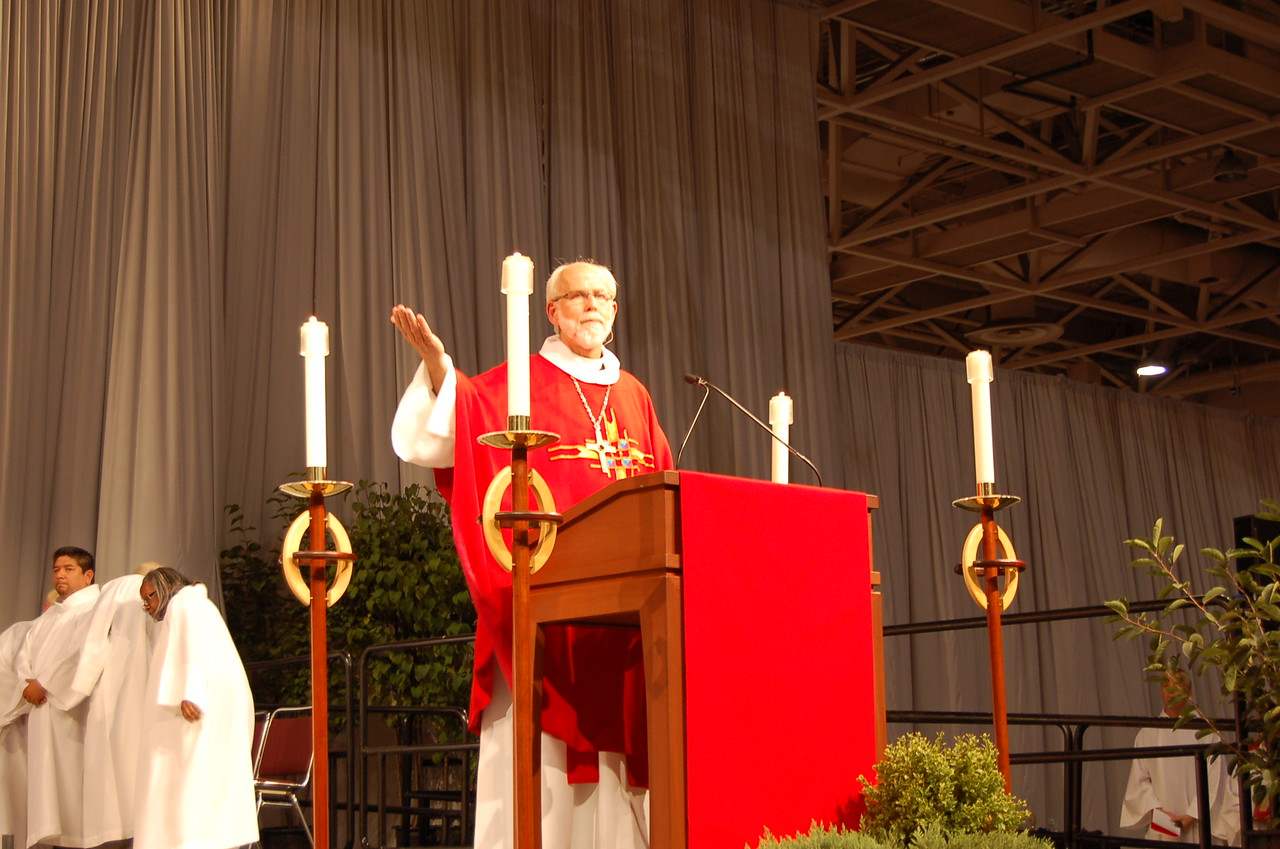 Presiding Bishop Mark S. Hanson preaches at opening worship.