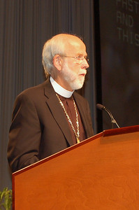 Presiding Bishop Mark S. Hanson addresses the assembly during plenary session ten.