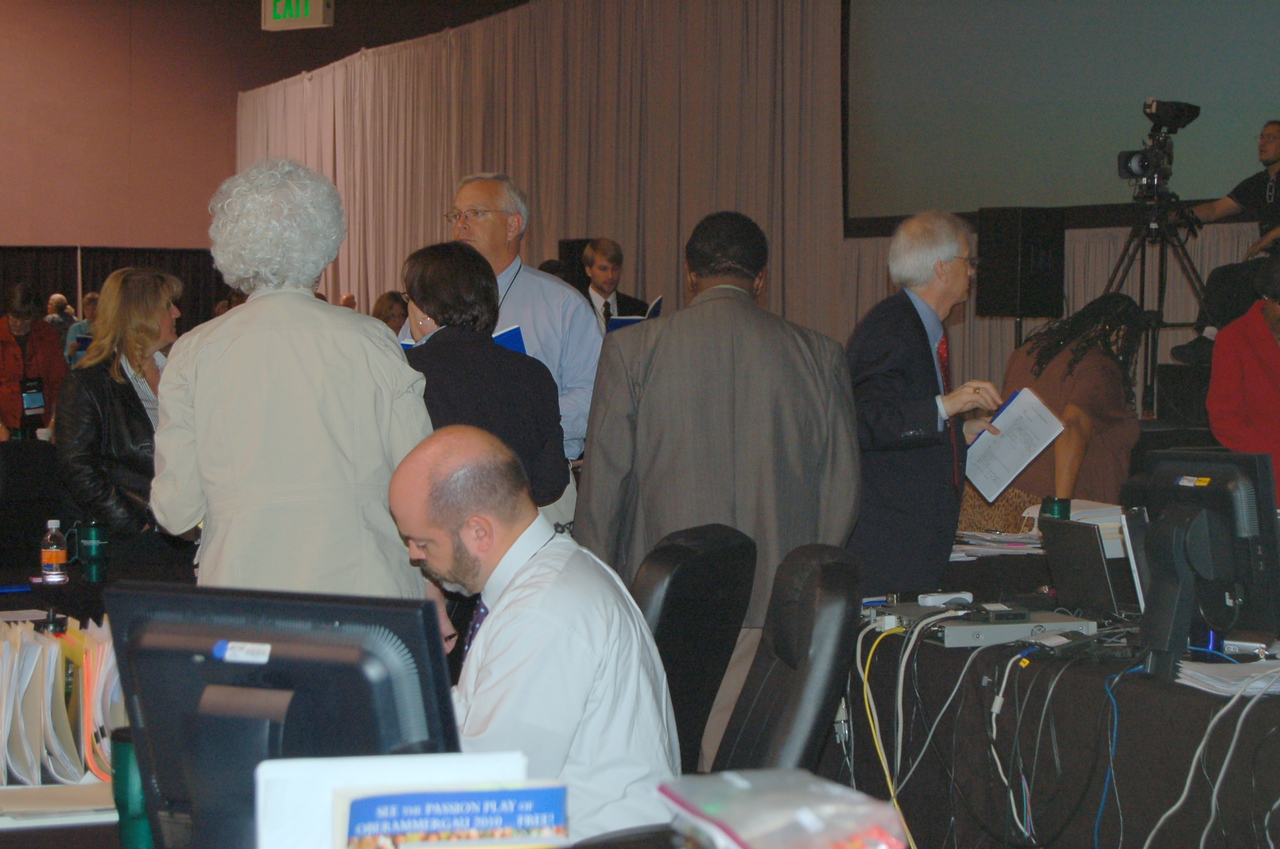 Behind the scenes at plenary session ten.