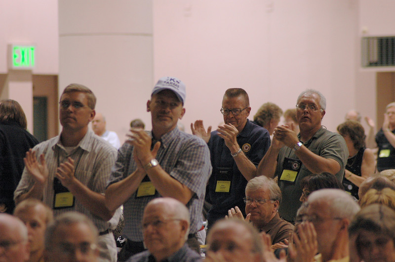 Voting members respond to the Rev. Gerald Kieshnick's remarks.