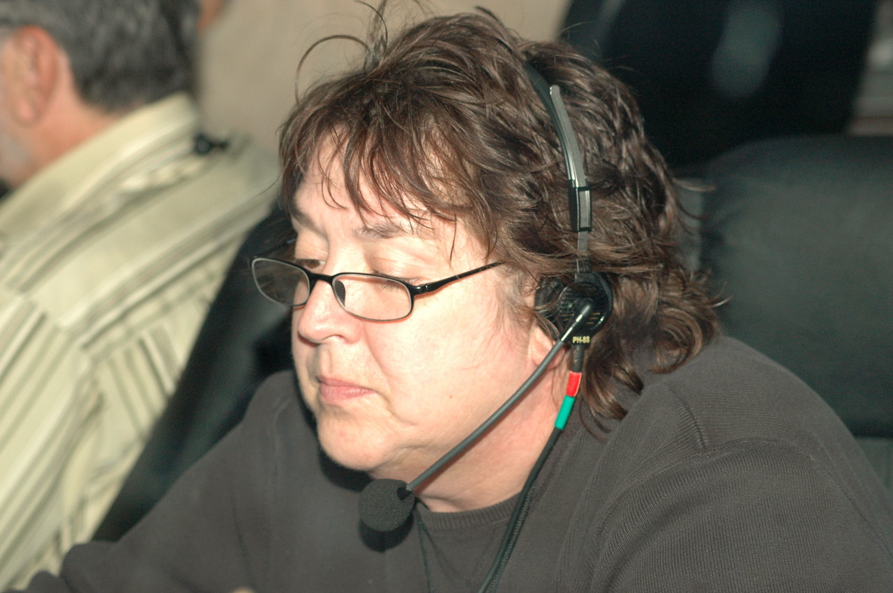 Behind the scenes – one of the production crew.