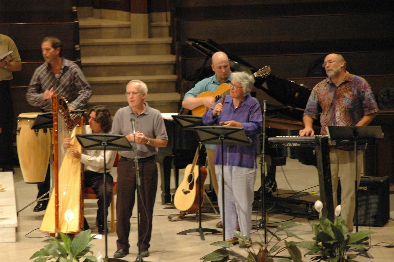 Worship at Central Lutheran Church, Minneapolis, on Saturday.