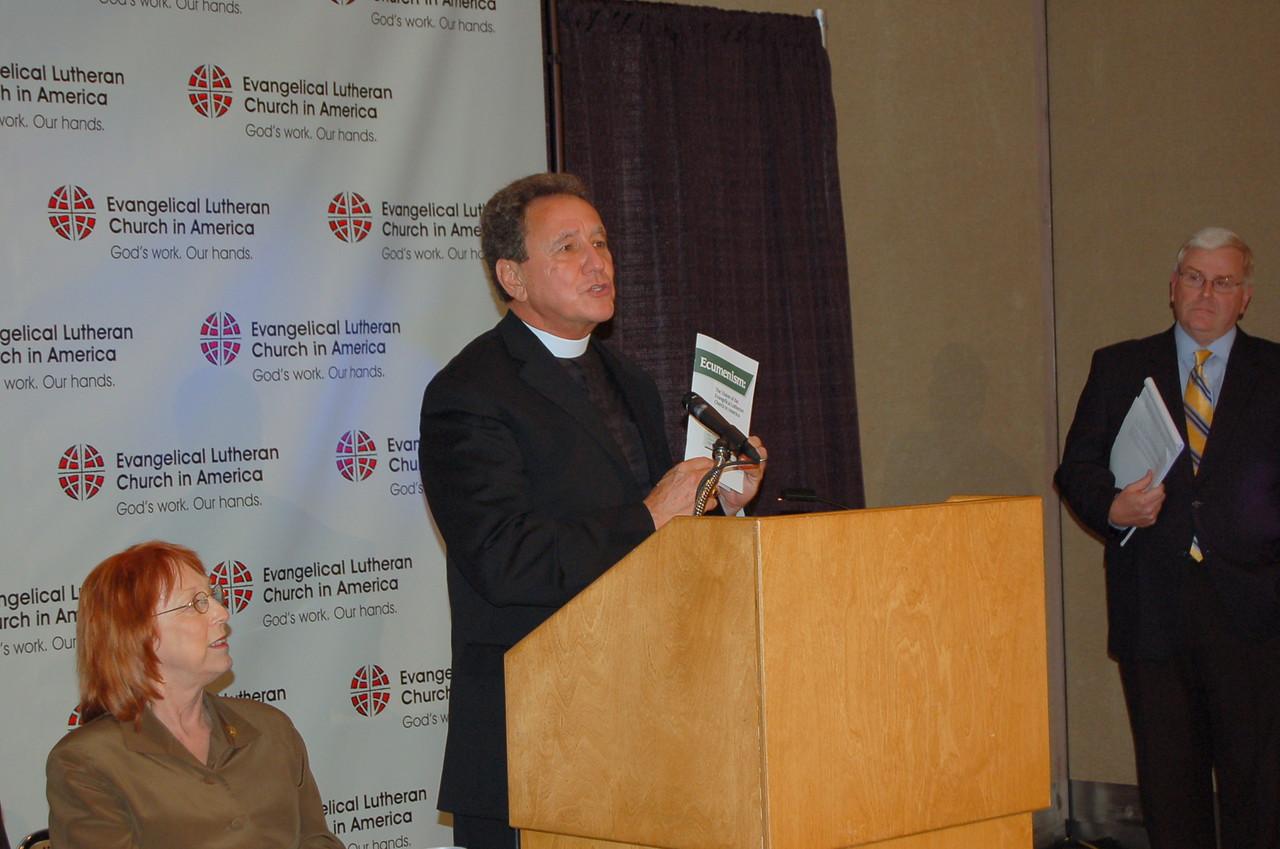 Pr. Dan McCoid, executive, ELCA Ecumenical and Inter-Religious Relations.