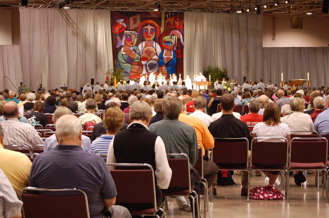 Thursday's worship service.