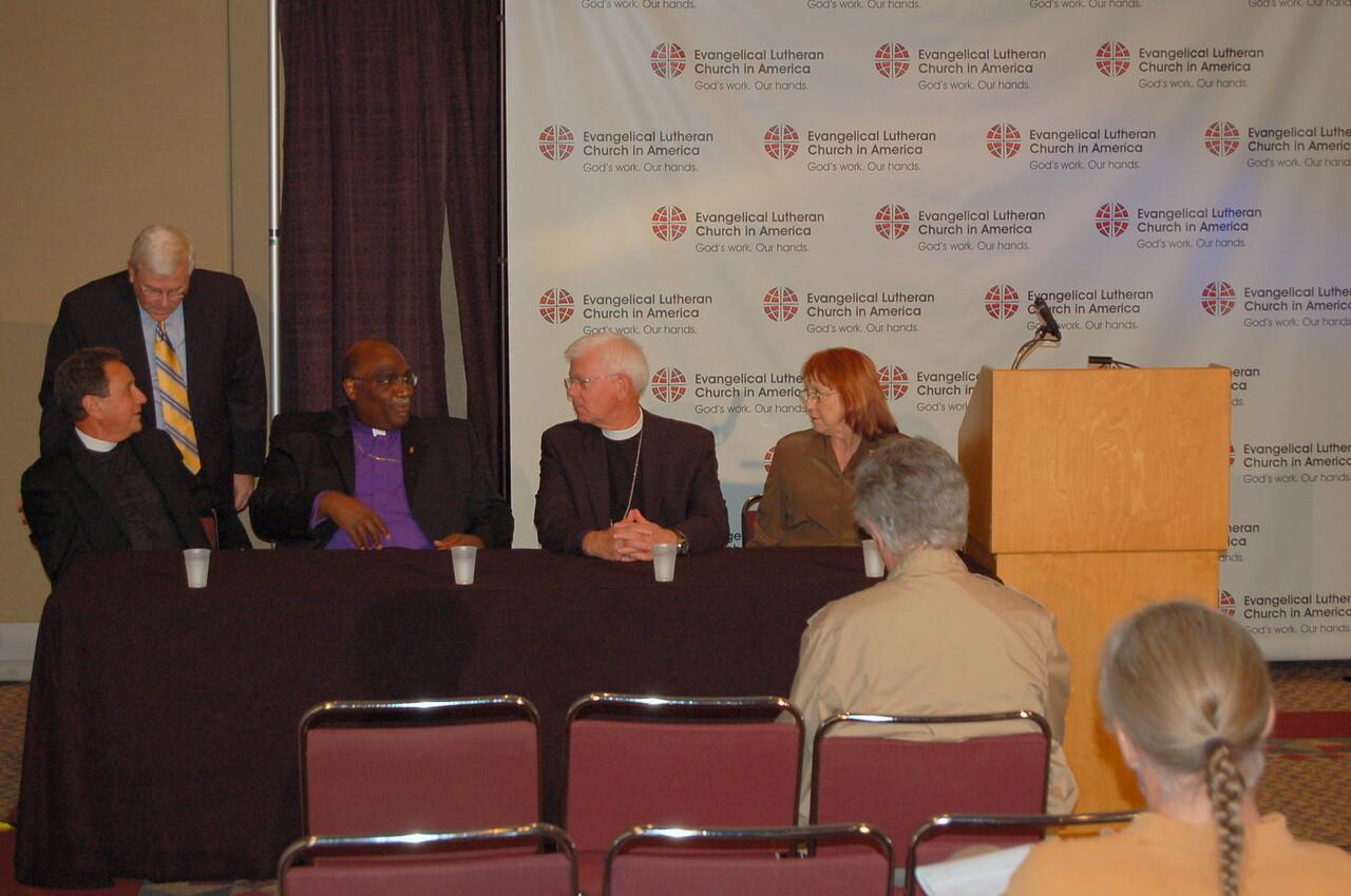 John Brooks, ELCA News Director, talks to Pr. Dan McCoid, ELCA Executive for Ecumenical and Inter-Religious Relations.