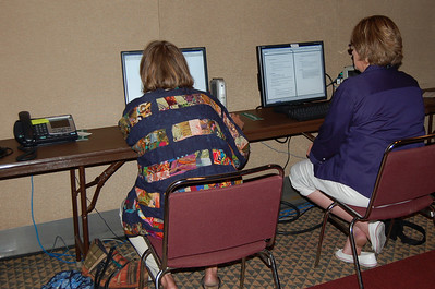 E-mail center remains busy during the 2009 Churchwide Assembly.