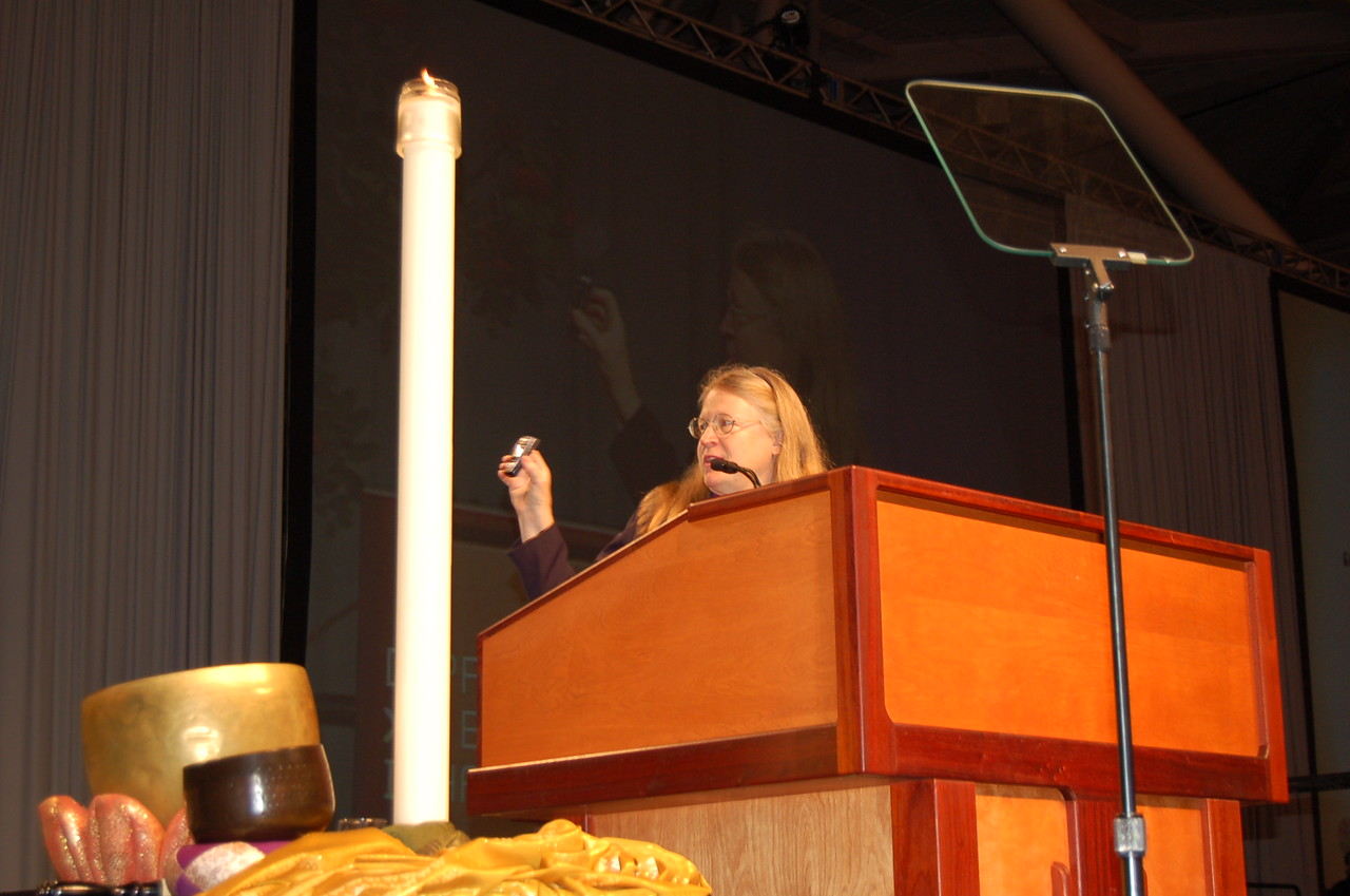 The Rev. Jessica R. Crist, bishop of the Montana Synod, Great Falls, Montana, led the bible study during plenary session seven.