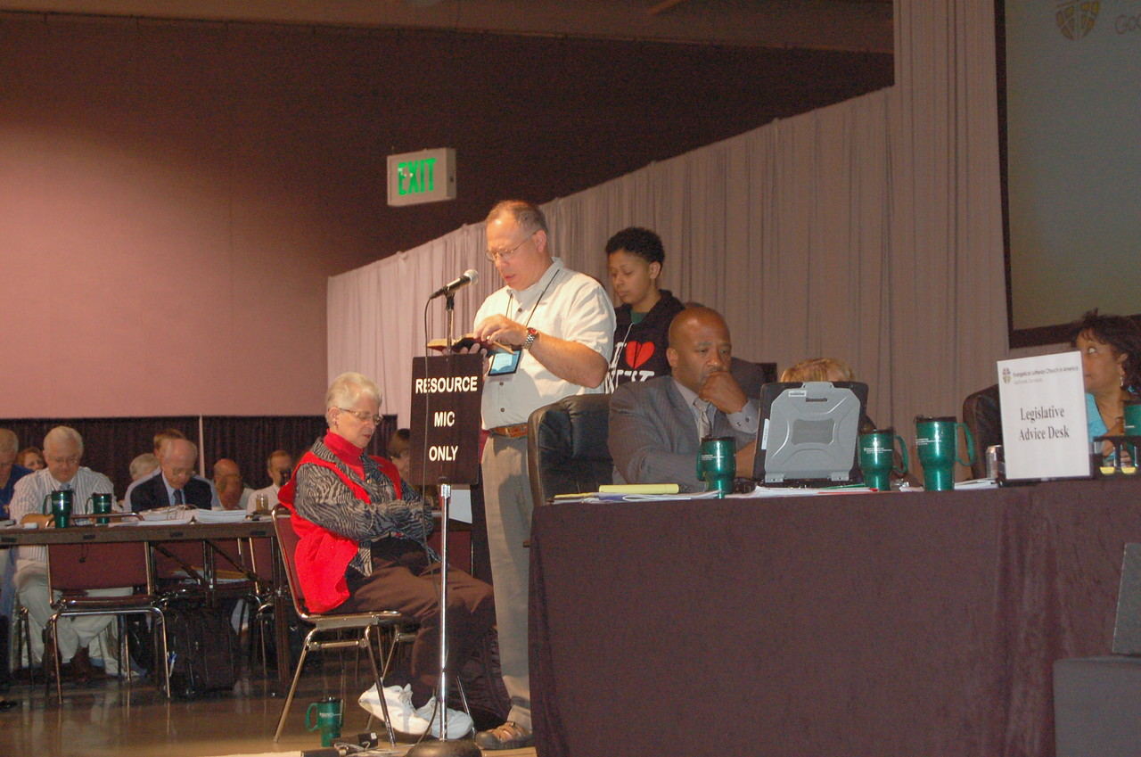 A member of the resource section is asked to respond to a question.