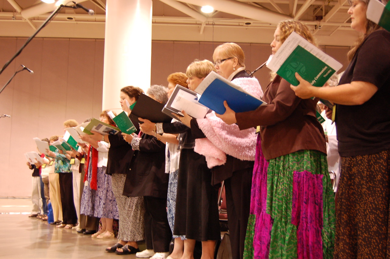 Thursday's choir during worship.