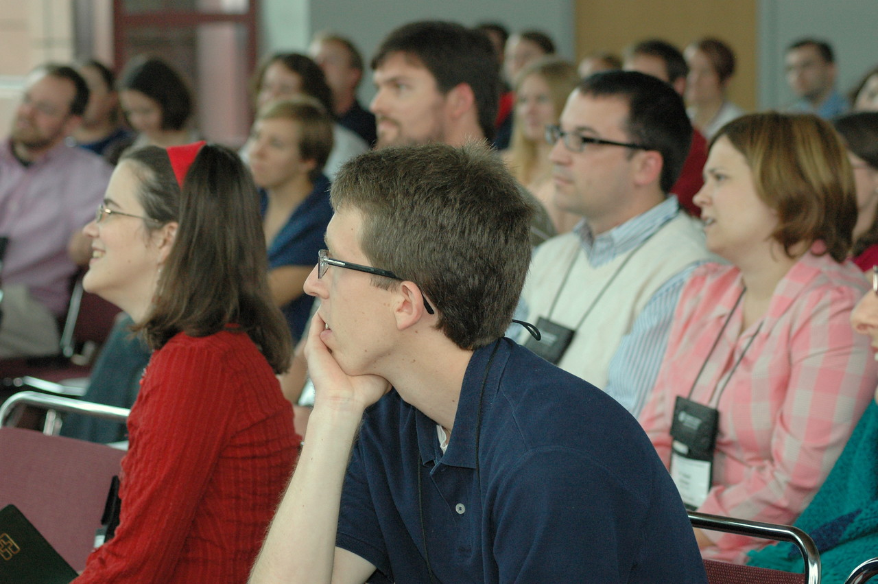 Young Rostered Leaders listen intently to Bishop Hanson.