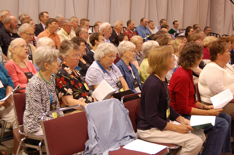 Worshippers at Thursday's Service of Word and Sacrament.