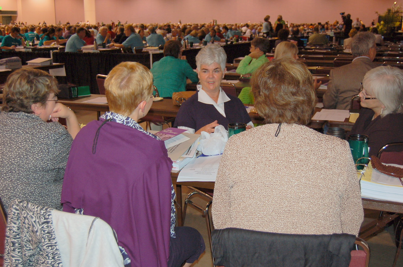 Ione Hanson and other bishops' spouses.